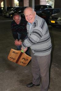 photo man celebrating 90th birthday