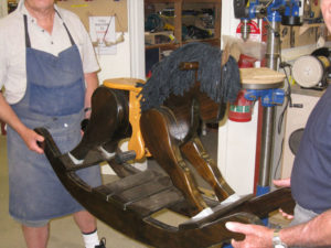 photo wooden rocking horse